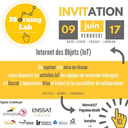 Morning Lab #IoT – Visite de l'équipe de recherche de l'Enssat, vendredi 9 juin de 9h30 à 12h30, Lannion