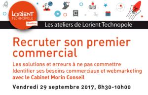 Atelier Lorient Technopole recruter son 1er commercial