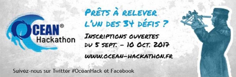 Ocean Hackathon 2017 – 2ème édition, du 13 au 15 octobre 2017 à Brest