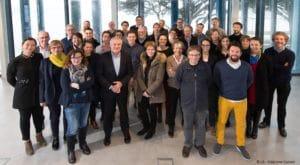 """Les partenaires du projet """"Handicap Innovation Territoire"""" réunis le 14 février 2018 à la Maison de l'Agglomération à Lorient"""