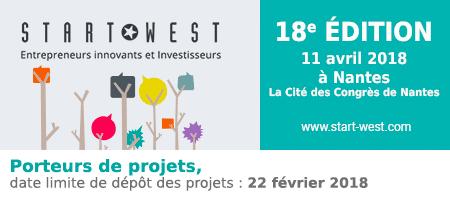 START WEST le 11 avril à Nantes – Rencontres Startups & investisseurs. Dépôt des candidatures avant le 22 février 2018 !