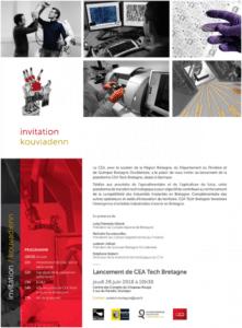 CEA Tech Bretagne lancement Quimper 28 juin 2018
