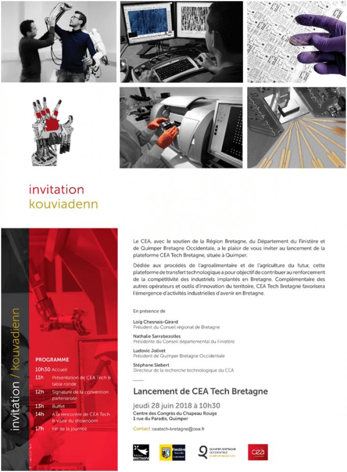 Lancement du CEA Tech Bretagne le jeudi 28 juin à Quimper