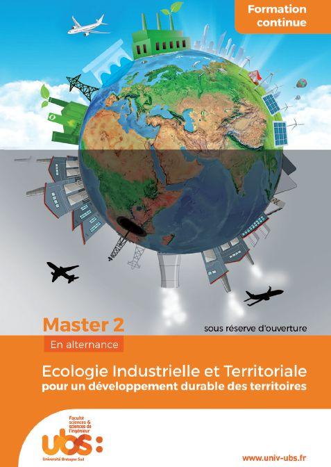 Nouveau Master Écologie Industrielle et Territoriale à l'UBS en octobre 2018