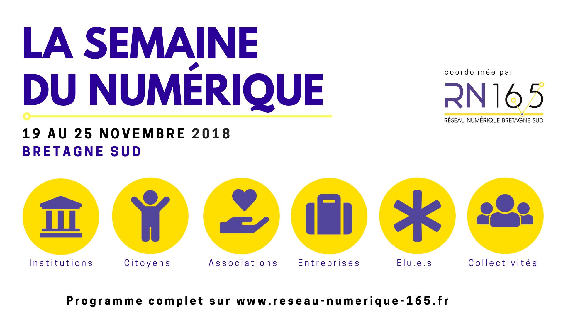 Semaine du numérique Bretagne Sud – Du 19 au 25 novembre 2018
