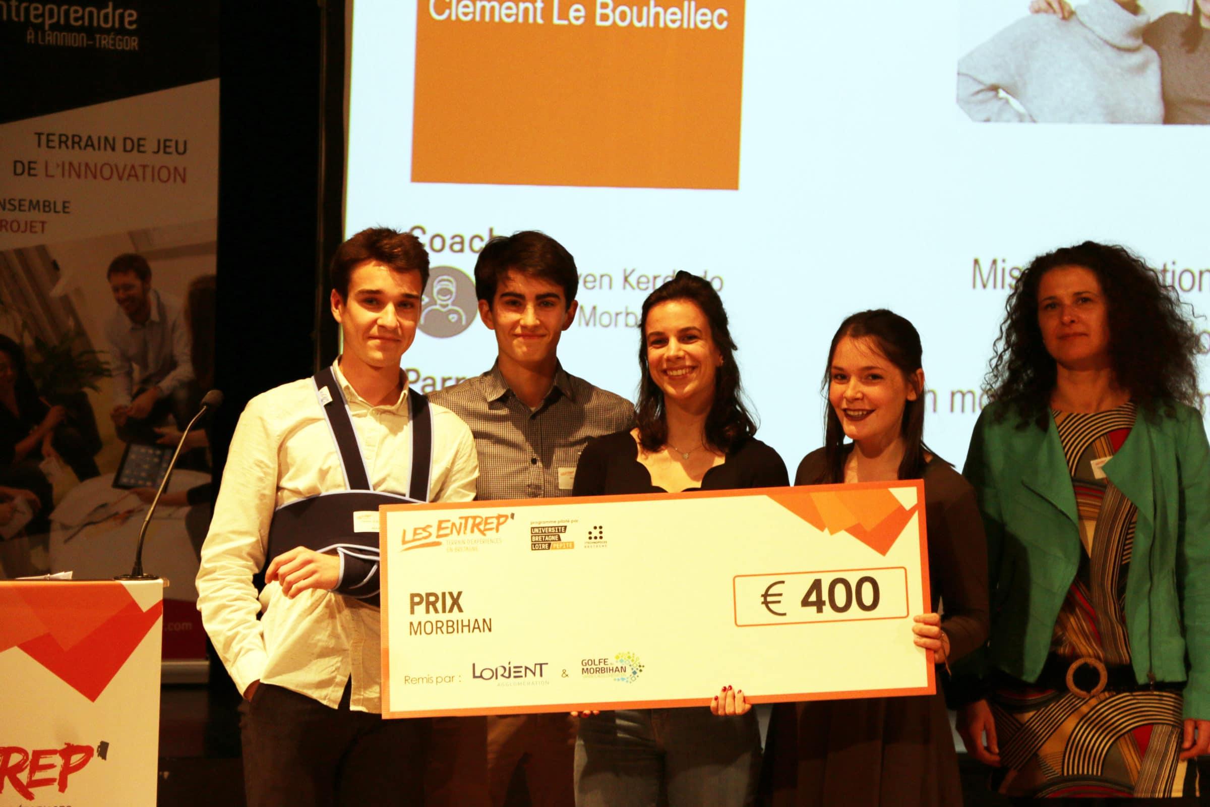 BIOCAL reçoit le prix Morbihan aux Entrep' 2019 ! BRAVO à cette équipe du Campus de Lorient !