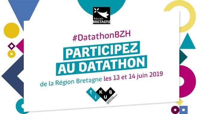 Participez au Datathon de la Région Bretagne les 13 et 14 juin 2019 !