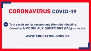 COVID 19 - foire aux questions