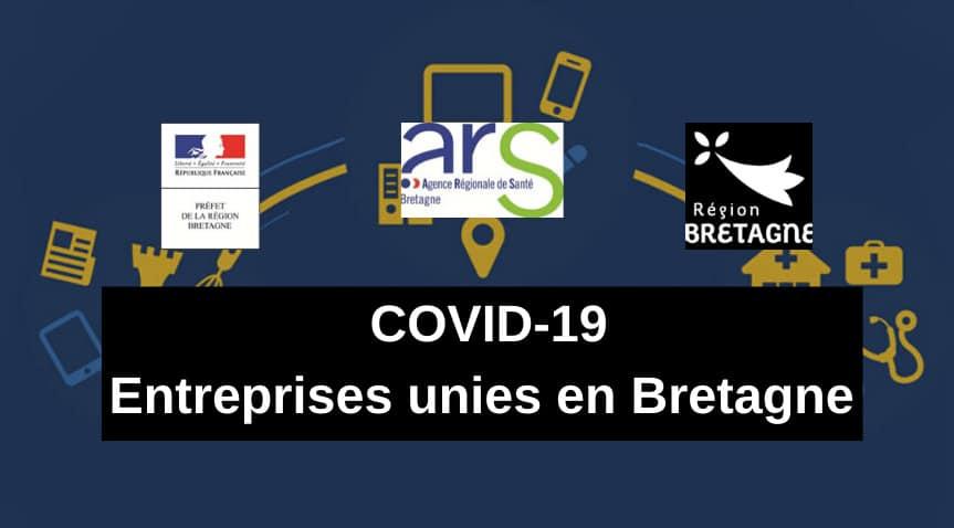 COVID-19 | ENTREPRISES UNIES EN BRETAGNE – Une plateforme pour recenser les offres de services des entreprises à destination des acteurs de santé, mais aussi de l'industrie agroalimentaire ou d'autres secteurs vitaux
