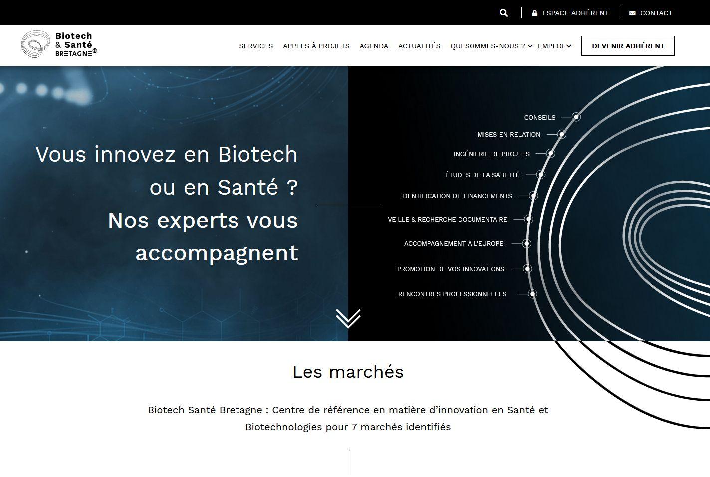 Biotech santé Bretagne lève le masque… sur son site internet !