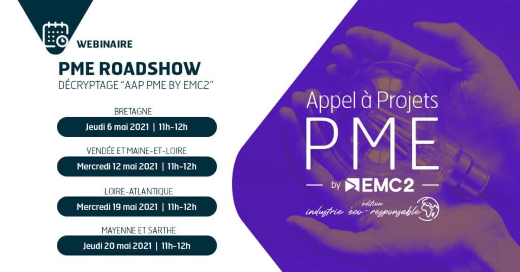 Appel à projets | PME by EMC2 2021 – Édition Industrie éco-responsable. Webinaire de présentation le 6 mai, 11h00-12h00