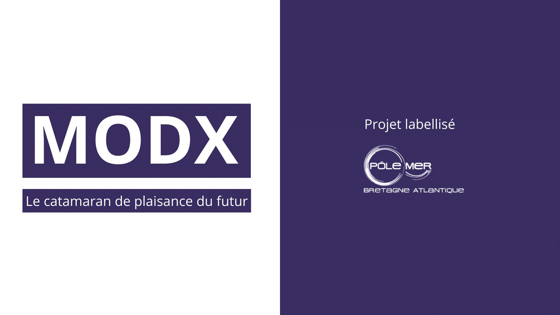 MODX – le catamaran de plaisance du futur – labellisé par le Pôle Mer Bretagne Atlantique