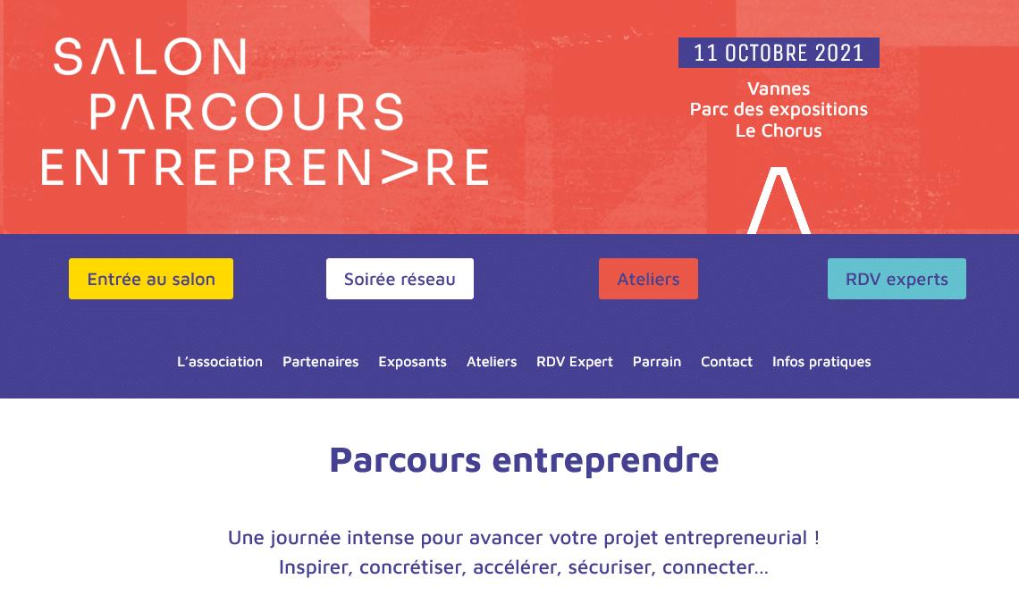 Salon Parcours Entreprendre le 11 octobre à Vannes